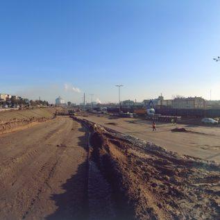 budowa parkingu idrogi dojazdowej - stabilizacja gruntu