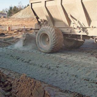 siewnik samojezdny dozujący cement